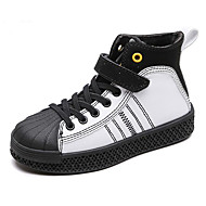 baratos Sapatos de Menino-Para Meninos / Para Meninas Sapatos Microfibra Inverno Conforto Tênis Velcro para Infantil Branco / Preto / Estampa Colorida