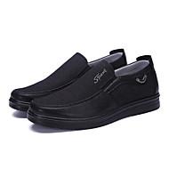 tanie Obuwie męskie-Męskie Komfortowe buty Płótno / PU Jesień i zima Biznes / Casual Mokasyny i buty wsuwane Oddychający Kolorowy blok Szary / Brązowy / Khaki