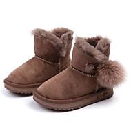 baratos Sapatos de Menino-Para Meninos / Para Meninas Sapatos Microfibra Inverno Botas de Neve Botas Pom Pom para Bébé Preto / Amêndoa / Botas Cano Médio