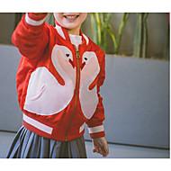 เด็ก เด็กผู้หญิง พื้นฐาน ทุกวัน สีพื้น แขนยาว ปกติ ฝ้าย / เส้นใยสังเคราะห์ แจ็คเก็ตและโค้ต ทับทิม