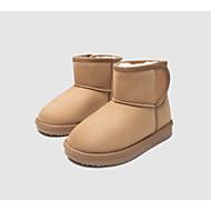 baratos Sapatos de Menina-Para Meninos / Para Meninas Sapatos Camurça Inverno Botas de Neve Botas Velcro para Infantil / Bébé Preto / Amarelo / Botas Cano Médio