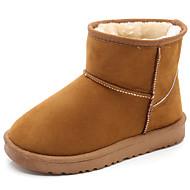 baratos Sapatos de Menina-Para Meninas Sapatos Sintéticos Inverno Botas de Neve / Botas da Moda Botas para Infantil / Bébé Preto / Marron / Rosa claro / Botas Cano Médio