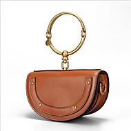 baratos Clutches & Bolsas de Noite-Mulheres Bolsas Pele Bolsa de Mão Ziper Marron / Cinzento Claro / Camel
