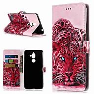 billiga Mobil cases & Skärmskydd-fodral Till Nokia Nokia 7 Plus / Nokia 6 2018 Plånbok / Korthållare / med stativ Fodral Djur Hårt PU läder för Nokia 7 Plus / Nokia 6 2018 / Nokia 1