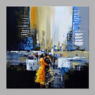 billiga Oljemålningar-Hang målad oljemålning HANDMÅLAD - Abstrakt / Människor Klassisk / Moderna Utan innerram