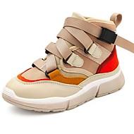 baratos Sapatos de Menina-Para Meninas Sapatos Sintéticos Primavera & Outono Conforto Tênis Corrida Cadarço para Infantil / Bébé Bege