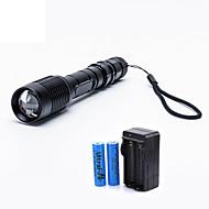 ieftine -2000 lm Lanterne LED LED 5 Mod - UltraFire Zoomable / Focalizare Ajustabilă
