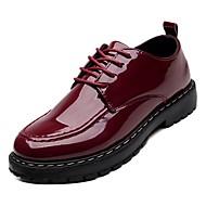 baratos Sapatos Masculinos-Homens Sapatos Confortáveis Couro Ecológico Outono Oxfords Preto / Vinho / Festas & Noite