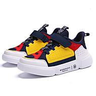 baratos Sapatos de Menina-Para Meninos / Para Meninas Sapatos Com Transparência Primavera & Outono Conforto Tênis Velcro para Azul Escuro / Rosa claro / Branco / Preto / Estampa Colorida