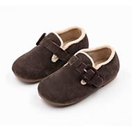 baratos Sapatos de Menina-Para Meninas Sapatos Camurça Inverno Sapatos para Daminhas de Honra Mocassins e Slip-Ons Presilha para Bébé Amarelo / Café