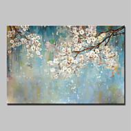 billiga Abstrakta målningar-Hang målad oljemålning HANDMÅLAD - Abstrakt Blommig / Botanisk Moderna Inkludera innerram / Sträckt kanfas
