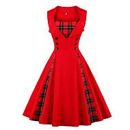 Damen Übergrössen Elegant A-Linie Kleid Midi