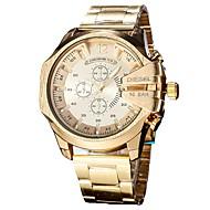 Муж. Наручные часы Японский Кварцевый Нержавеющая сталь Черный / Серебристый металл / Золотистый Календарь Секундомер Повседневные часы Аналоговый Кольцеобразный Мода -  / Два года / Два года