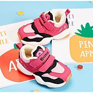 baratos Sapatos de Menino-Para Meninos / Para Meninas Sapatos Couro Ecológico Inverno Conforto Tênis Velcro para Infantil / Bébé Azul Escuro / Pêssego / Vermelho / Estampa Colorida