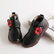 tanie Obuwie dziewczęce-Dla dziewczynek Obuwie Skóra bydlęca Zima Obuwie w stylu wojskowym Botki na Czarny / Czerwony / Różowy