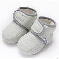 baratos Sapatos de Menina-Para Meninas Sapatos Algodão Primavera & Outono Primeiros Passos Tênis Velcro para Bebê Azul Claro / Rosa Claro / Verde Claro