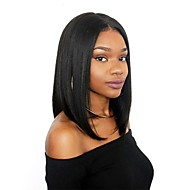 Ljudska kosa Lace Front Perika Bob frizura Stepenasta frizura Kratak Bob stil Brazilska kosa Ravan kroj Prirodno ravno Perika 130% Gustoća kose s dječjom kosom Prirodna linija za kosu Afro-američka