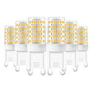 baratos Luzes LED de Dois Pinos-YWXLIGHT® 6pcs 10 W 600-800 lm G9 Luminárias de LED  Duplo-Pin T 86 Contas LED SMD 2835 Branco Quente / Branco Frio / Branco Natural 220-240 V