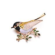 Dame Klassisk Nåler Fugl damer Unikt design Brosje Smykker Gull Til Seremoni Aftenselskap