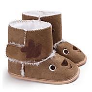baratos Sapatos de Menina-Para Meninos / Para Meninas Sapatos Algodão Inverno Primeiros Passos / Curta / Ankle Botas Velcro para Bebê Marron / Rosa claro / Amêndoa / Botas Curtas / Ankle