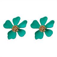 Dames Oorbellen Set Klassiek Bloem Modieus oorbellen Sieraden Groen / Blauw / Roze Voor Feest Dagelijks 1 set
