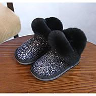 baratos Sapatos de Menina-Para Meninas Sapatos Couro Envernizado Outono & inverno Botas da Moda Botas Lantejoulas para Bébé Preto / Cinzento / Amêndoa