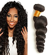 3 Bundles Brazilian Hair Loose Wave 8A Human Hair Unprocessed Human Hair Headpiece Natural Color Hair Weaves / Hair Bulk Tea Party Favors 8-28 inch Natural Color Human Hair Weaves Fashionable Design