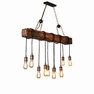 billige Takbelysning og vifter-10-Light Industriell Lysekroner Omgivelseslys Malte Finishes Tre / Bambus Kreativ 110-120V / 220-240V