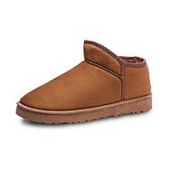 baratos Sapatos Femininos-Mulheres Pêlo Sintético Inverno Casual Botas Sem Salto Amarelo / Marron / Azul