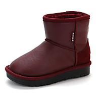 baratos Sapatos de Menino-Para Meninos / Para Meninas Sapatos Couro Ecológico Inverno Botas de Neve Botas para Infantil Preto / Vinho / Verde Escuro