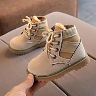 baratos Sapatos de Menino-Para Meninos Sapatos Couro Sintético Outono & inverno Botas da Moda Botas Cadarço para Infantil / Bébé Preto / Bege / Verde