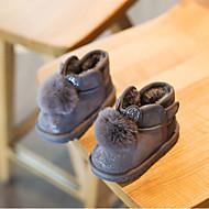 baratos Sapatos de Menina-Para Meninas Sapatos Camurça Inverno Botas de Neve Botas Pom Pom para Infantil / Bébé Preto / Cinzento / Rosa claro / Botas Curtas / Ankle
