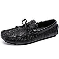 baratos Sapatos Masculinos-Homens Sapatos de couro Pele Primavera & Outono Casual / Formais Sapatos de Barco Não escorregar Preto