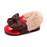 baratos Sapatos de Menina-Para Meninas Sapatos Couro Ecológico Primavera & Outono Sapatos para Daminhas de Honra Rasos Laço para Infantil Preto / Bege / Vermelho