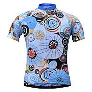 JESOCYCLING Žene Kratkih rukava Biciklistička majica - Plava Cvjetni / Botanički Bicikl Biciklistička majica Majice Quick dry Sportski 100% poliester Brdski biciklizam biciklom na cesti Odjeća