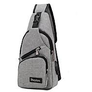 cheap -Men's Bags Nylon Sling Shoulder Bag Zipper Black / Gray / Purple
