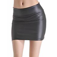 Damskie Podstawowy Bodycon Spódnice Solidne kolory Wysoka talia