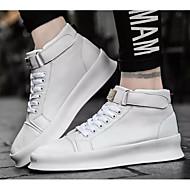 tanie Obuwie męskie-Męskie Komfortowe buty Mikrowłókno Wiosna i jesień Adidasy Biały / Czarny / Czerwony