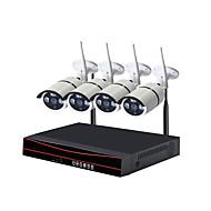 tanie Zestawy z rejestratorem sieciowym (NVR)-STRONGSHINE H.264 4 kalały 960H (1280 * 960)(Ręczny / Alarm uruchomiony / Ustawienie czasu)