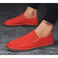 baratos Sapatos Masculinos-Homens Sapatos Confortáveis Jeans Primavera & Outono Mocassins e Slip-Ons Preto / Laranja / Cinzento Claro
