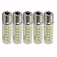 billige Kornpærer med LED-5pcs 4.5 W 450 lm E17 LED-kornpærer T 76 LED perler SMD 2835 Mulighet for demping Varm hvit / Kjølig hvit 110 V
