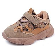 baratos Sapatos de Menino-Para Meninos / Para Meninas Sapatos Couro Inverno Conforto Tênis Velcro para Bébé Cinzento / Khaki