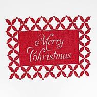 billige Bordduker-hjem multifunksjon kreativ grønn dekorasjon jul håndverk hult polyester isolasjon pute glidende anti-scalding placemat