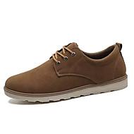 tanie Obuwie męskie-Męskie Komfortowe buty PU Zima Casual Oksfordki Antypoślizgowe Czarny / Żółty / Brązowy