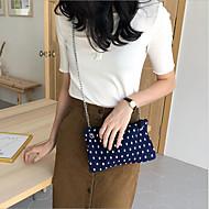 baratos Bolsas de Ombro-Mulheres Bolsas Poliéster Bolsa de Ombro Ziper Azul Escuro / Café / Vinho