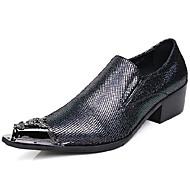 baratos Sapatos Masculinos-Homens Sapatos formais Pele Napa Primavera & Outono Negócio / Formais Oxfords Não escorregar Gradiente Preto / Festas & Noite