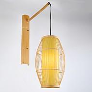 billige Vegglamper-Nytt Design Moderne Moderne Vegglamper Innendørs Tre / Bambus Vegglampe 220-240V 40 W