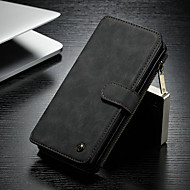 CaseMe Case For Samsung Galaxy Note 8 Wallet / Card Holder / with Stand Full Body Cases Solid Colored Hard PU Leather for Note 8