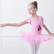 Ballet Kjoler Jente Trening / Ytelse Elastan / Lycra Appliqué / Skerfer / Bånd Kortermet Kjole