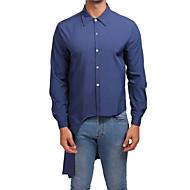 אחיד פעיל / סגנון רחוב כותנה, חולצה - בגדי ריקוד גברים שחור L / שרוול ארוך